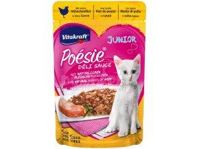 Vitakraft Cat Poésie Déli Sauce Junior kapsička Kuřecí 85g