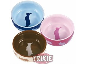 Miska (trixie) keramická pro králíky barevná 250 ml,11 cm