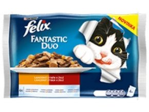 Felix  Duo masový výběr v želé 4 x 100g