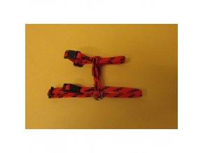 Postroj nylon o.k.28 o.h.38cm červeno černý