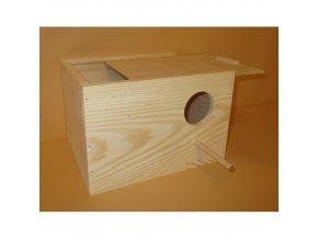 Hnízdící budka pro andulky 22x15x17cm