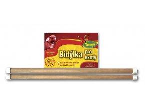 Dřevěné bidýlko pro exoty, 2 ks, 35 cm