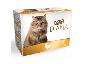 Eco Diana 100gx12ks kaps.cat kuřecí kousky v omáčce