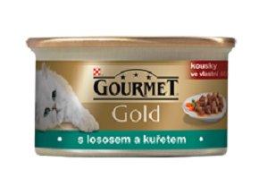 Gourmet kousky gold losos s kuřetem