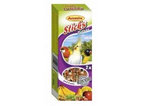 Tyčinky deluxe s ovocem a ořechy pro malé papoušky
