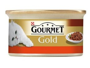 Gourmet kousky gold hovězí s kuřetem v rajčatové omáčce