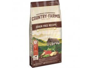 COUNTRY FARMS GRAIN FREE ADULT DOG hovězí
