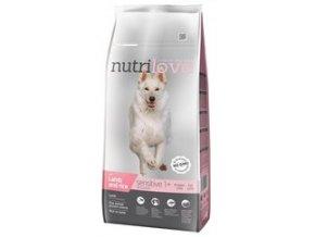 Nutrilove pes granule SENSITIVE jehněčí+rýže 12 kg