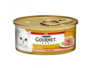 Gourmet Gold losos s lahodnou náplní 85g