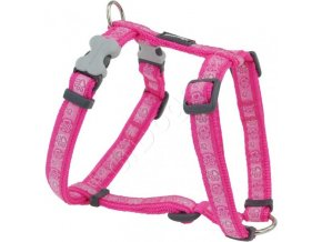 Postroj RD PAWS impress. HOT PINK