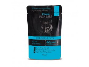 cat pouches adult duck 85g