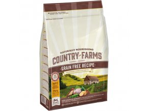 COUNTRY FARMS GRAIN FREE PUPPY DOG kuře