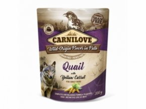 Carnilove Dog Pouch Paté Quail with Yellow Carrot 300g