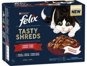 Felix Tasty Shreds lahodný výběr ve šťávě 12 × 80 g