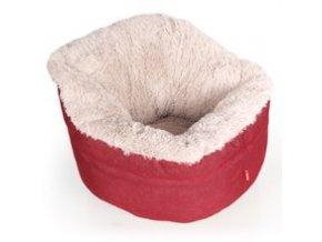 Pelíšek Muffy červeno, béžový