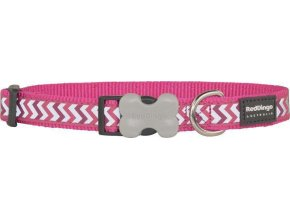 Obojek RD reflective ZIGGY,hot pink