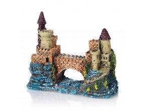 Akvarijní dekorace PO 040 hrad s mostem