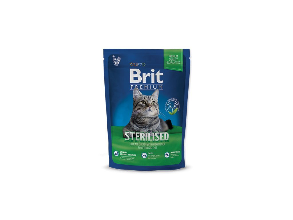 3924 new brit premium cat adult sterilised 300g