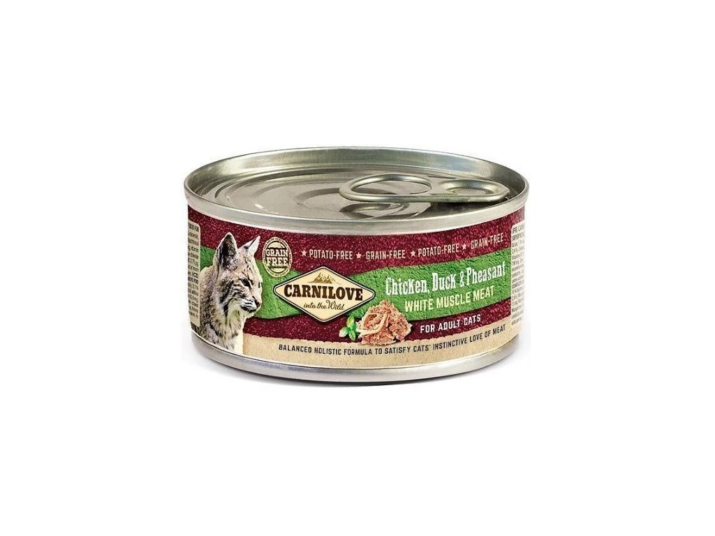 7743 carnilove wmm chicken duck pheasant for adult cats 100g