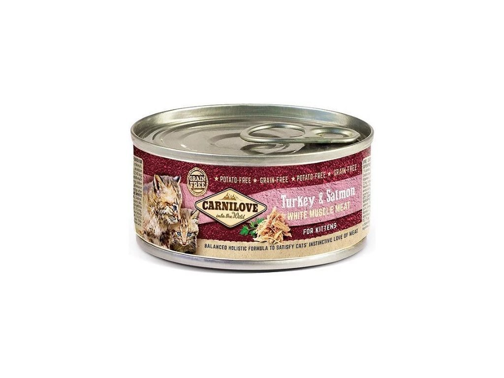 7737 carnilove wmm turkey salmon for kittens 100g