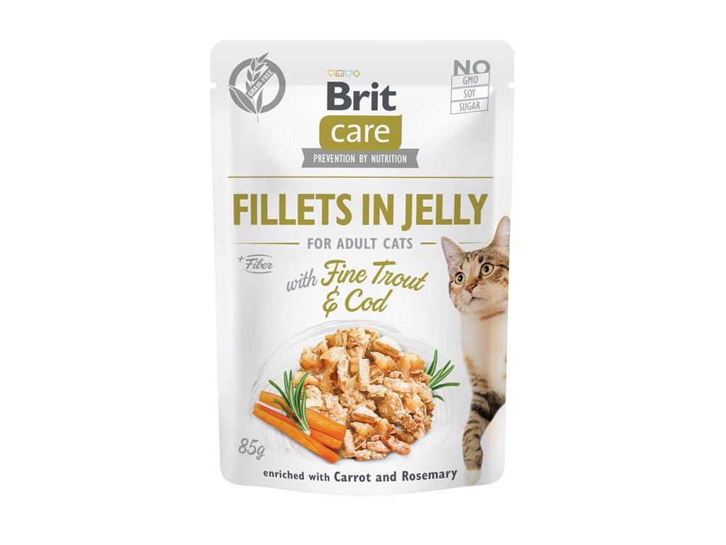 brit care cat fillets in jelly with fine troutcod85g 4.161