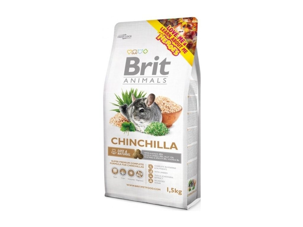 brit animals chinchila complete 1 5kg