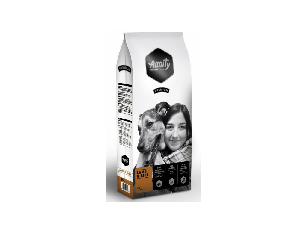 5682 amity premium dog lamb rice 15kg tenesco cz