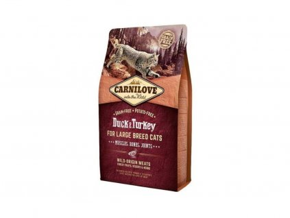 3786 carnilove cat duck turkey for adult large cats 2kg