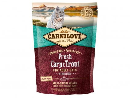 5232 carnilove cat fresh carp trout sterilized 0 4kg