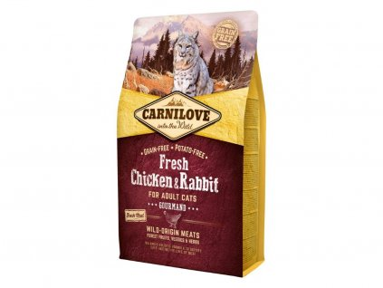 5220 carnilove cat fresh chicken rabbit 2kg