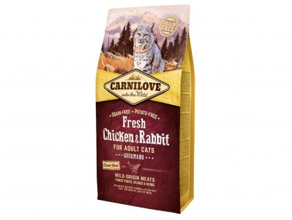5217 carnilove cat fresh chicken rabbit 6kg
