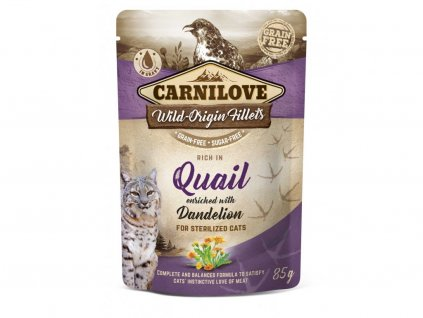 7989 3d 18220 cl wet food cat 85g pouche quail