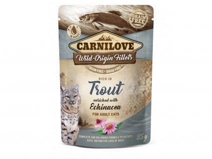 8001 3d 18220 cl wet food cat 85g pouche trout