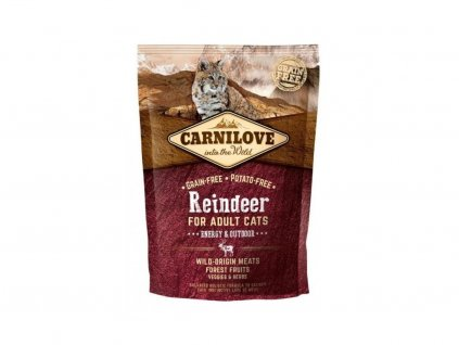 3765 carnilove cat reindeer for adult cats energy outdoor 400g