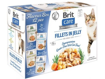 brit care cat flavour box fillet in jelly 4x3 pcs12x85g