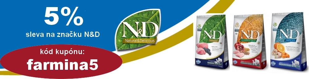 Sleva na produkty značky N&D