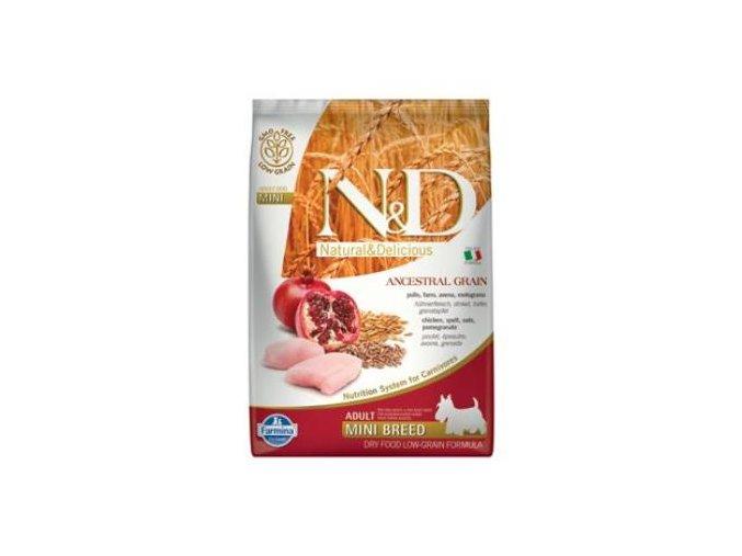 N&D LG DOG Adult Mini Chicken & Pomegranate 800g
