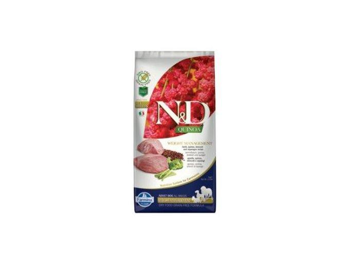 N&D GF Quinoa DOG Weight Management Lamb & Broccoli 800g