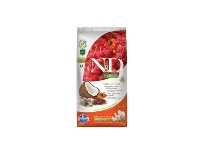 N&D GF Quinoa DOG Skin&Coat Herring & Coconut 800g