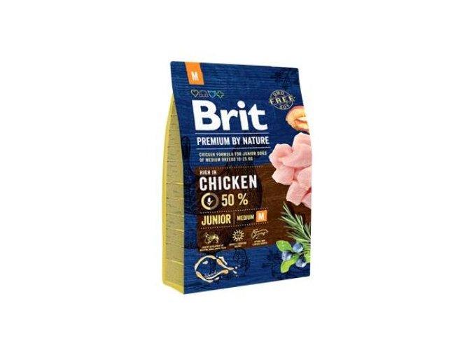 Brit Premium Dog by Nature Junior M 3kg