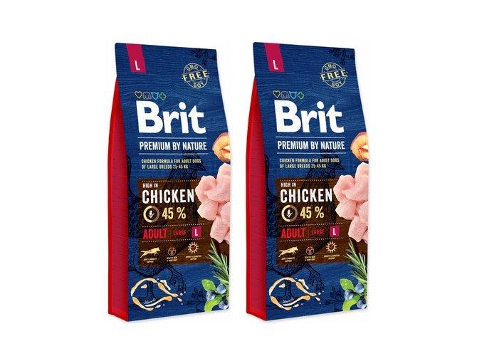 Brit Premium Dog by Nature Adult L 2 x 15 kg