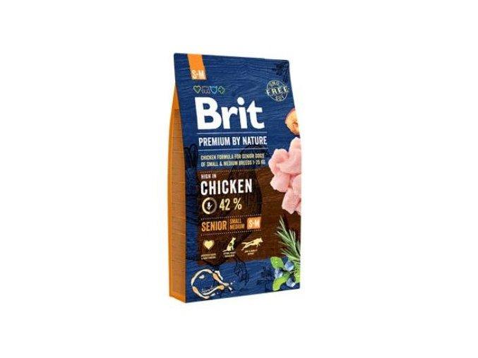 Brit Premium Dog by Nature Senior S+M 8kg