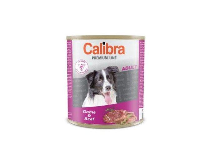 Calibra Dog konz. Premium Adult zvěřina a hovězí 800g
