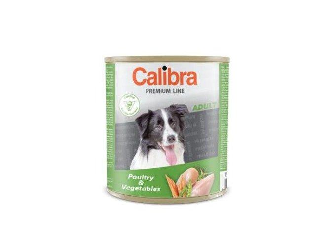 Calibra Dog konz. Premium Adult drůbeží a zelenina 800g