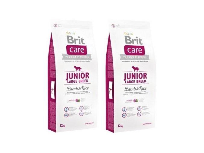 Brit Care Dog Junior Large Breed Lamb & Rice 2 x 12kg
