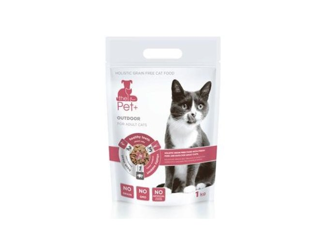 Krmivo Pet+ 3v1 kočka OUTDOOR 1kg
