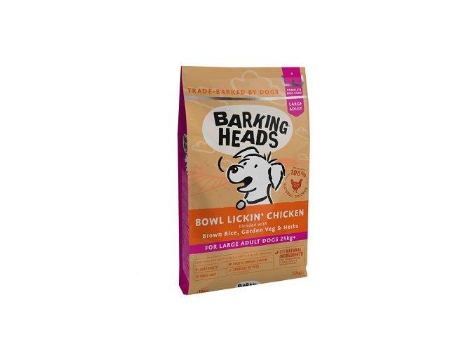 BARKING HEADS Bowl Lickin' Chicken Large Breed 12kg  + BARKING HEADS kapsička 300g