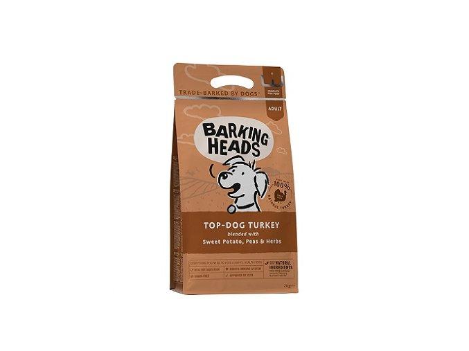 BARKING HEADS Top Dog Turkey 12kg  + BARKING HEADS kapsička 300g