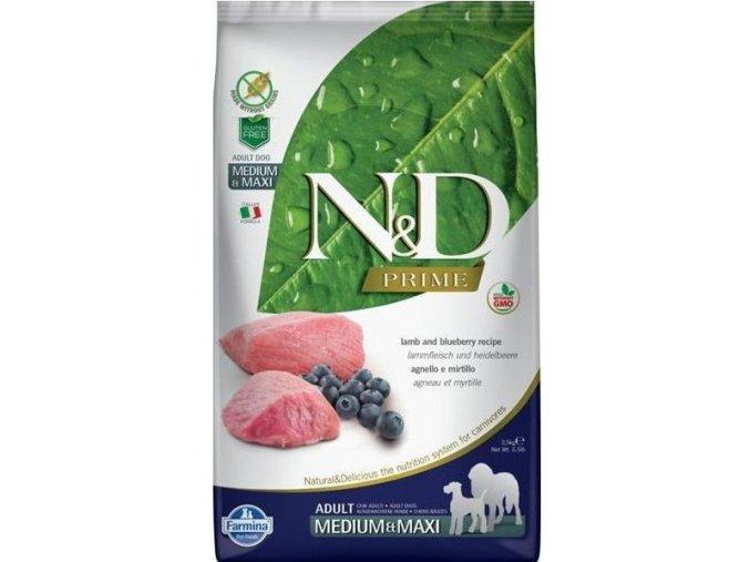 N&D Prime Dog Adult M/L Lamb & Blueberry 12 kg