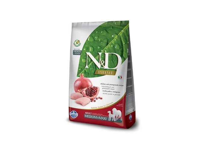 N&D PRIME DOG Adult M/L Chicken & Pomegranate 2,5kg1